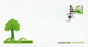 Guernsey 2016 FDC Europa Think Green 1v Set Cover Windmills Bicycles Stamps