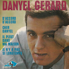 """7"""" FRENCH EP 45 TOURS DANYEL GERARD """"D'accord D'accord +3"""" 1964 MICHEL COLOMBIER"""