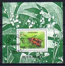 Animaux Papillons de nuit Tanzanie (48) bloc oblitéré
