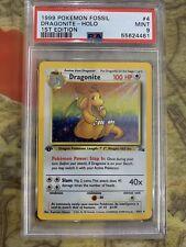 PSA 9 MINT 1st Edition Dragonite #4 Fossil 1999 Holo Rare Pokemon Card