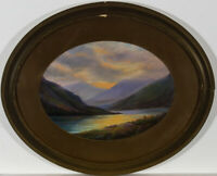 T. Ramies - Signed & Framed Early 20th Century Gouache, Highland Loch Evening