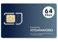 12 Months Unlimited Prepaid Service IoT Sim Card, 64kbps