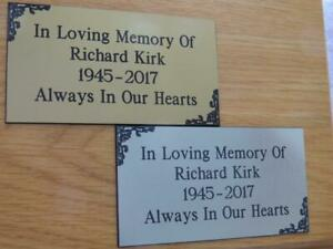 Personalised Engraved Memorial or Celebration Plaque Various Sizes.- LPT4