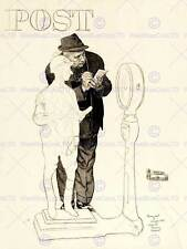 Sport Post Jockey Being Weighed Horse Racing Drawing Fine Art Poster Cc4272