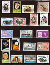 DOMINICA Timbres neufs:bateaux,animaux,satellites,sujets divers 296T1