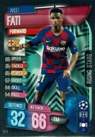 TOPPS MATCH ATTAX EXTRA 2019/20 RISING STAR ANSU FATI BARCELONA RS5