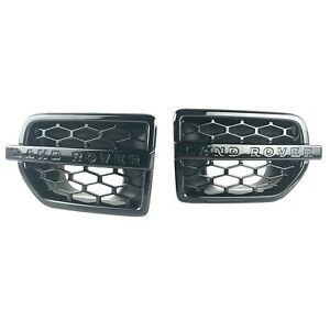 Land Rover LR4 Side Grille Air Intake Fender Vents in Gloss Black Genuine New
