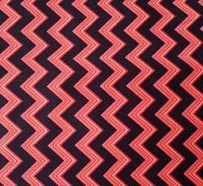Chevron Chic Studio 8 BTY Quilting Treasures Orange Red Purple Black Stripes