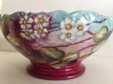"""T&V Tresseman & Vogt Depose Limoges France Hand Painted 9 1/2"""" Bowl Grapes"""