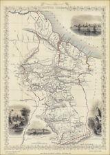 British Guiana (Guyana, Guayana), a map by Tallis 1851 - enlarged reproduction