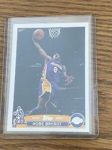 2003-04 Topps Kobe Bryant Card -- Lebron Rc Year