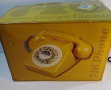 746 Phone 1960's Classic Design Yellow Retro
