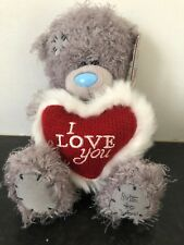"6"" ME TO YOU TATTY TEDDY BEAR SOFT PLUSH  - HOLDING A 'I LOVE YOU' HEART"