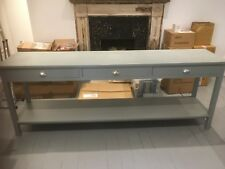 BESPOKE H85 x W180 x D40cm CONSOLE HALL TABLE 3 DRAWER 1 SHELF F&B PLUMMET SATIN