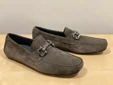 Salvatore Ferragamo Grey Suede Gancini Bit Loafer - 7.5 - EE - NEW (Paragi)