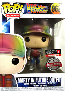 BACK TO THE FUTURE Marty McFly in Future Outfit - Funko Pop! (Metallic)
