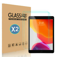 2-Pack Tempered Glass Screen Protector Cover For iPad 7th Gen HD 10.2 inch 2019