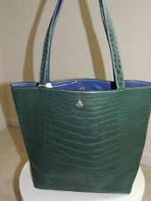 $9500 Ethan K Sands Reversible Crocodile Tote Bag Purse