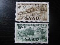 SAAR SAARLAND Mi. #262-263 scarce used stamp set! CV $312.50