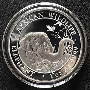 2018 Somalian Elephant 1 oz .9999 Silver Brilliant Uncirculated Mint Coin Africa