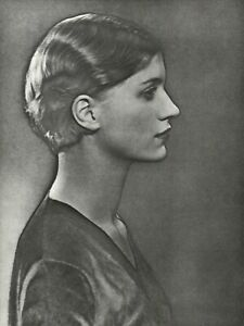 1975 Man Ray Solarized Female Portrait Lee Miller Art Photo Engraving Gravure