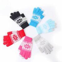la mode hiver chaud des gants à écran tactile en flocon de neige hommes femmes