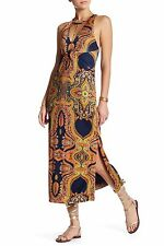 NWT FREE PEOPLE Sin City Printed Midi Dress in Psychedelic Summer - XS