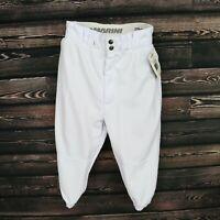 DeMarini Baseball Pants Boys Size SM White Activewear Pockets Stretch Waist NWT