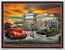 "Hot Rod Art Print Larry Grossman's ""WILLYS OR WON'T SHE"""