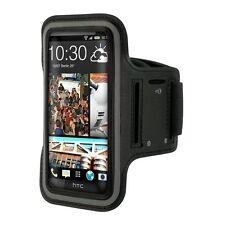 Fascia da braccio Sport per HTC ONE M8 bracciale Armband fitness corsa - Nera