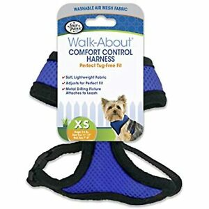 Four Paws Comfort Control Dog Harness Blue Extra Small