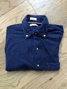 Peter Millar Button Down Long Sleeve Shirt Blue Mens Small EUC