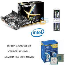 UPGRADE PC SCHEDA USB 3.0 + CPU INTEL I3 3.60 GHz + RAM 4GB BUNDLE INTEL DESKTOP