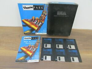 """Big Box PC Game Theme Park A Bullfrog Game on 6x 3.5"""" Floppy Disks Untested"""