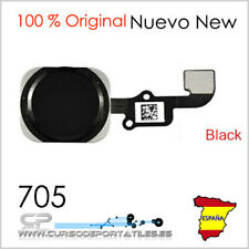 "1 Unidad Boton Home Menu con ID Touch cable Flex para iPhone 6 4.7"" Negro"