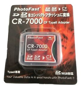 PhotoFast CR-7000 SD/SDHC to CF Adapter - Converts SD or SDHC to CF
