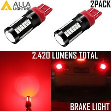 Alla Lighting 7443 54-LED Turn Signal Brake Stop Tail Marker Light Bulb Lamp,Red