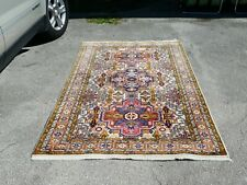 Vintage Turkish Oriental Rug With Tribal Design