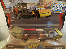 DISNEY Pixar Cars 2 Colour/COLORE changer liightning MC QUEEN & SARGE