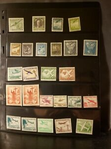 Chile Airmail Stamps Lot of 47 - MNH - see details for list