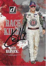 AUTOGRAPHED Kevin Harvick 2019 Panini Donruss RACE KINGS Signed NASCAR Card COA