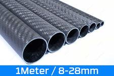 1m Carbon Rohr Matt 100% CFK Rund - Sicht Kohlefaser 3K Tube 1000mm