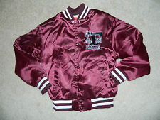 Vintage SWINGSTER Youth Texas A&M University Maroon Satin Jacket Sz. S