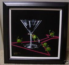 "*Michael Godard-""DIRTY MARTINI 3""-Playboy-Dancing-Dancer-Stripper-Olive-Fun-Art"