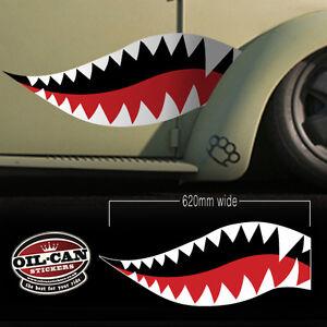 military look teeth decals, shark, ratlook, hoodride high quality laminated