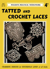Weldon's 4D #87 c.1934 Vintage Instructions for Tatting & Crochet Lace Patterns