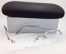 KAZUO KAWASAKI Eyeglasses MP 631 04 FK/54 Rimless Titanium Silver/Pewter Frames