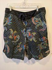 New listing Billabong Vintage 90s Mens Dragons Surf Swim Trunks Board Shorts 36 USA Poly EUC