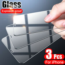 3pcs Full Cover Tempered Glass For iPhone XS Max XR Plus 11 Pro Screen Protector