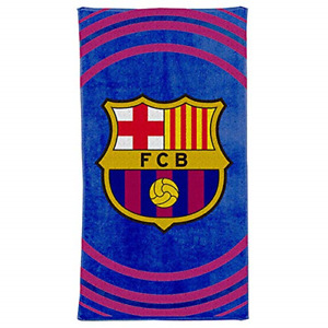 Official FC Barcelona La Liga Football Crest Bath & Beach Towel 100% Cotton 70cm